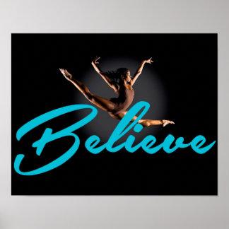 Gymnast Believe Poster