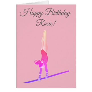 Gymnast Birthday Card