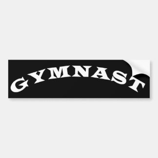 Gymnast Bumper Sticker