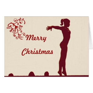 Gymnast Christmas Card