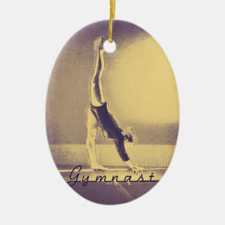 """Gymnast"" Christmas ornament"