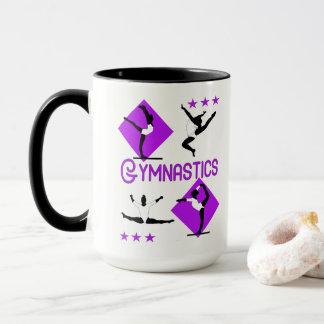 Gymnast Figures Cute Girls Gymnastics Personalized Mug