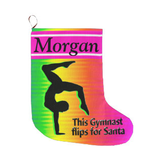 GYMNAST FLIPS FOR SANTA CHRISTMAS STOCKING