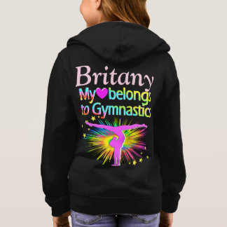 GYMNAST FOREVER PERSONALIZED HOODIE