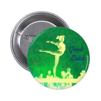 Gymnast Good Luck button