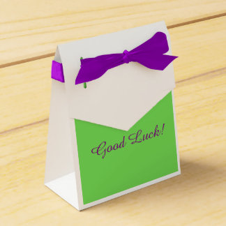 "Gymnast ""Good Luck"" Favor box"