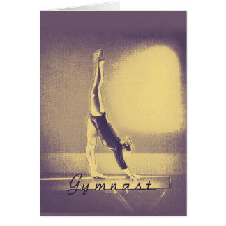 "Gymnast ""Good Luck"" greeting card"