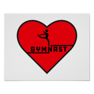 Gymnast Heart Poster - Customizable