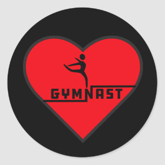 Gymnast Heart Sticker