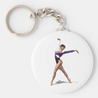 Gymnast Key Ring