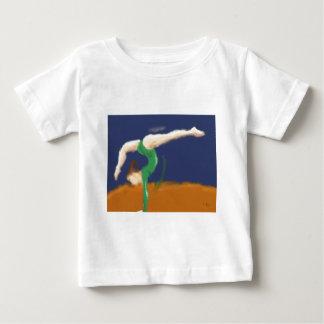 Gymnast on Balance Beam Art Baby T-Shirt