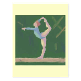 Gymnast on Balance Beam, Postcard