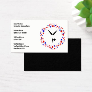 Gymnast Red White Blue | Gymnastics Tumbling Cheer Business Card
