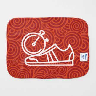 Gymnast Shoes Graphic Baby Burp Cloth