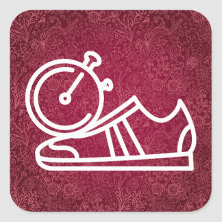 Gymnast Shoes Graphic Square Sticker