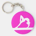 Gymnast Silhouette Keychain Pink