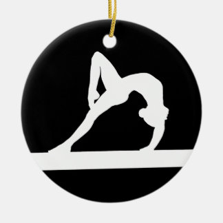 Gymnast Silhouette Ornament Black