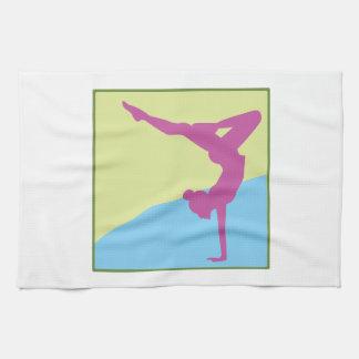 Gymnast Square Tea Towel