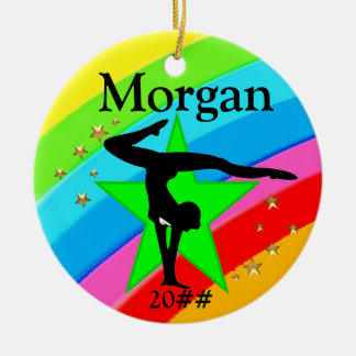 GYMNAST SUPER STAR PERSONALIZED ORNAMENT