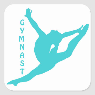 Gymnast Teal Sticker