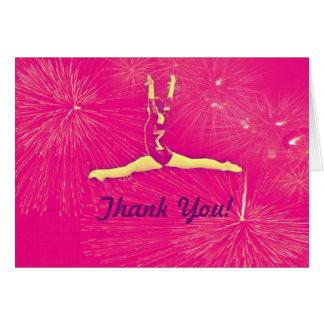 Gymnast Thank You Card