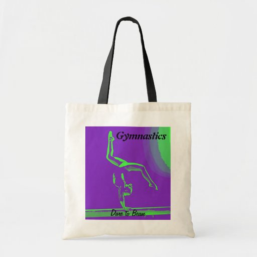 "Gymnast tote bag - ""Dare to Beam"""