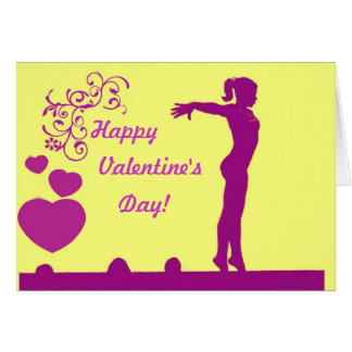 Gymnast Valentine's day card