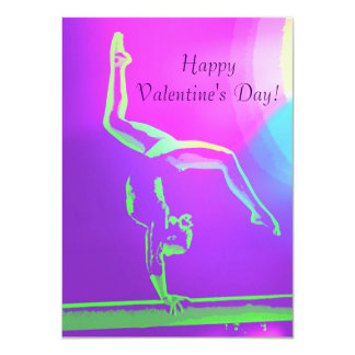 Gymnast Valentine's Day Card 11 Cm X 16 Cm Invitation Card