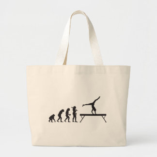 Gymnastic Balance Beam Large Tote Bag
