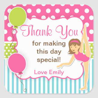 Gymnastic Birthday Favor Tag