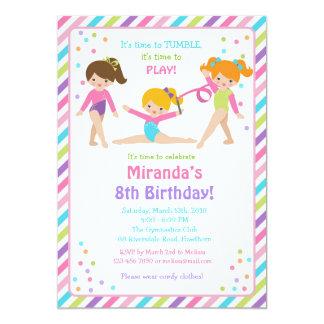 Gymnastic Birthday Invitation, Gymnastic Invite