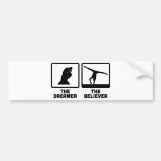 Gymnastic Floor Exercise Bumper Sticker