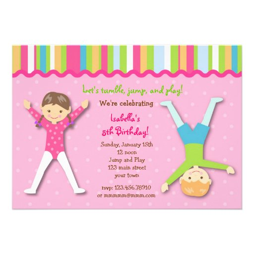 Gymnastic Party Invites for great invitation ideas