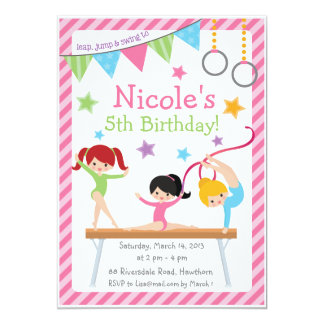 Gymnastic Invitation / Gymnastic Birthday Invite