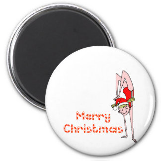 Gymnastic Merry Christmas Magnets