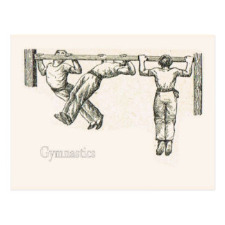 Gymnastics and exercise 8 postcard