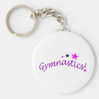 Gymnastics Arched with Stars Key Ring