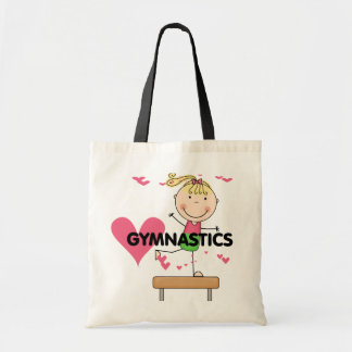 GYMNASTICS - Blond Girl Balance Beam Tshirts Budget Tote Bag