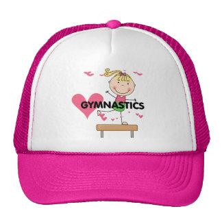 GYMNASTICS - Blond Girl Balance Beam Tshirts Cap