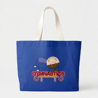 GYMNASTICS - Brunette Girl Balance Beam t-shirts Large Tote Bag