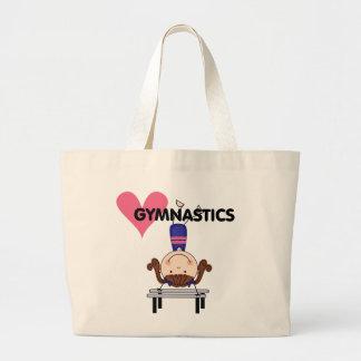 GYMNASTICS - Brunette Girl Handstands Canvas Bags