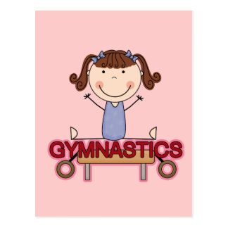 GYMNASTICS - Brunette Girl Splits Tshirts and Gift Postcard