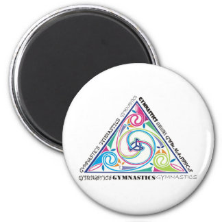 Gymnastics Celtic Triangle Fridge Magnet