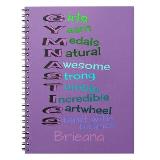 Gymnastics (change name) spiral notebook
