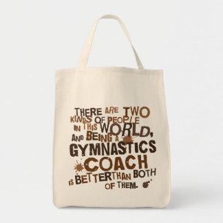 Gymnastics Coach Gift Grocery Tote Bag