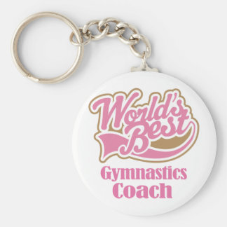 Gymnastics Coach Gift Key Ring