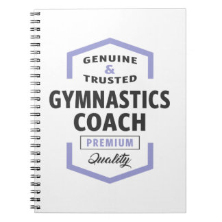 Gymnastics Coach Logo Gifts. Notebooks