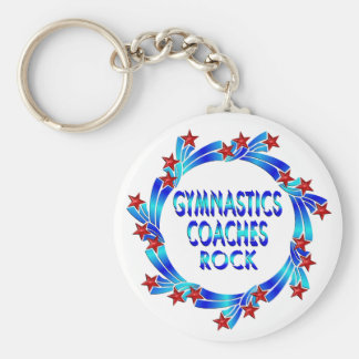 Gymnastics Coaches Rock Red Stars Key Chains