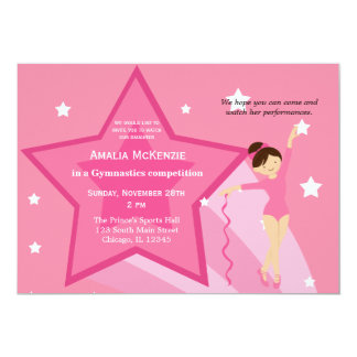Gymnastics Competition Card