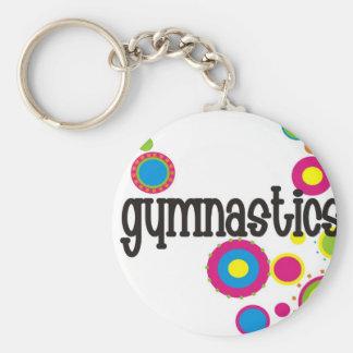 Gymnastics Cool Polka Dots Key Ring